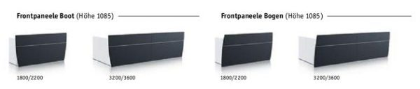Empfangstresen SED Frontpaneele Boot/Bogen