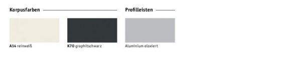 Empfangstresen SED Korpus und Profilfarben