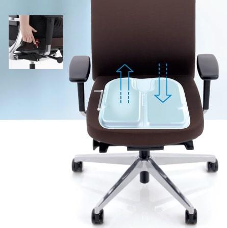 Anteo Alu, ergonomischer Bürostuhl mit airseat, dem Luftkissen