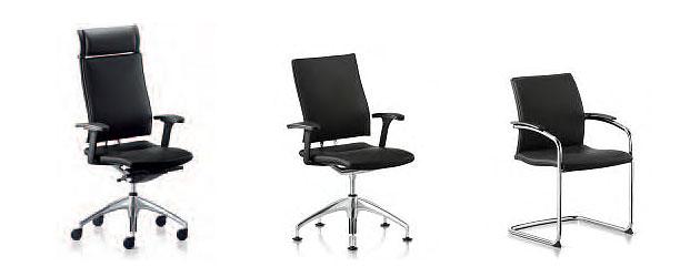 Drehsessel und Besucherstühle für das Managementbüro