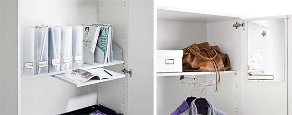 float-fx Schränke, Inneneinrichtung, Auszugtablar, Garderobenschrank, Hutablage, ausziehbarer Kleiderbügel, Spiegel