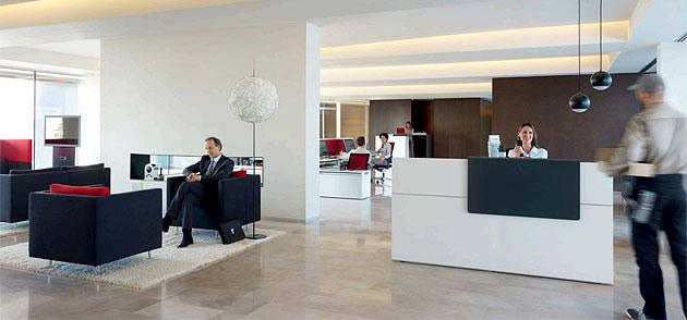 Möbel für Empfangsbereiche im Unternehmen