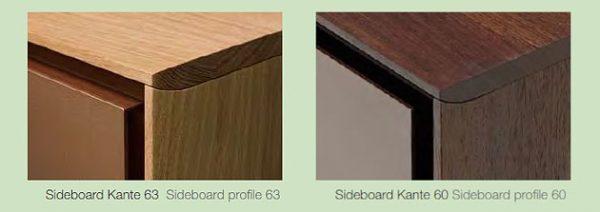 Kantenprofile des Sideboard