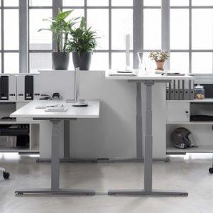 Steh-Sitz-Schreibtisch foxx, elektrisch höhenverstellbar