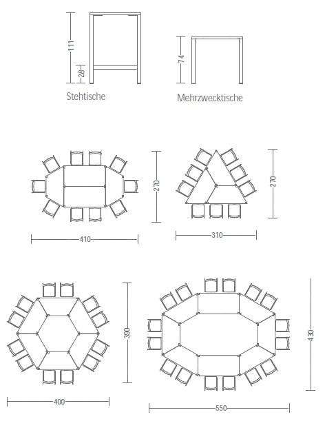 Tischhöhen client Stehtisch