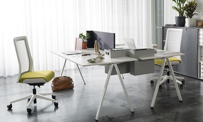 yuno office Büro, Doppelarbeitsplatz